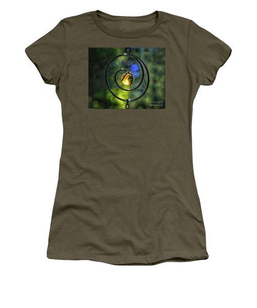 Women's T-Shirt (Junior Cut) featuring the photograph Catch Fire  by Mitch Shindelbower
