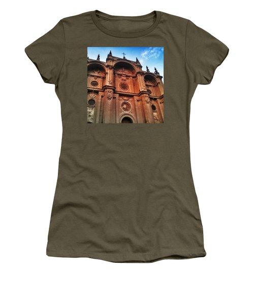 Catedral De #granada View From Plaza Women's T-Shirt