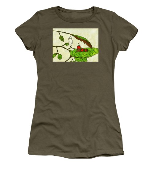 Caterpillar Whimsy Women's T-Shirt (Junior Cut) by Wendy McKennon