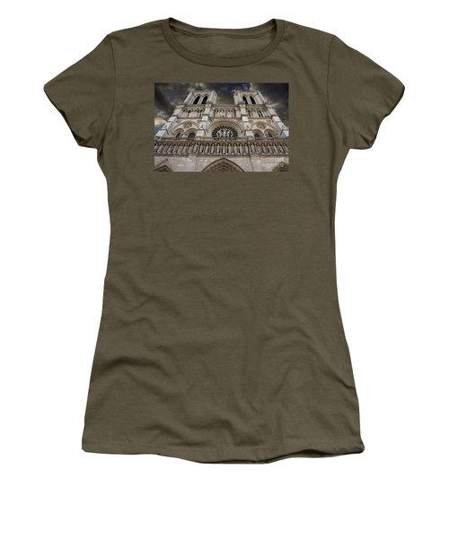 Cathedral Notre Dame Of Paris. France   Women's T-Shirt