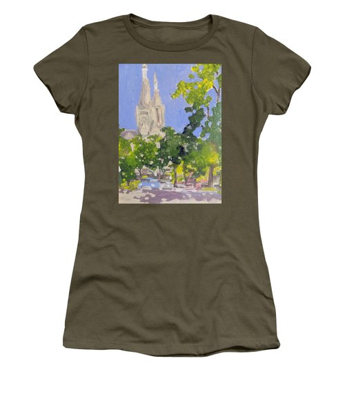 Cathedral Women's T-Shirt (Junior Cut) by Rodger Ellingson