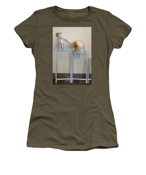 Cats In Baskets Women's T-Shirt (Athletic Fit)