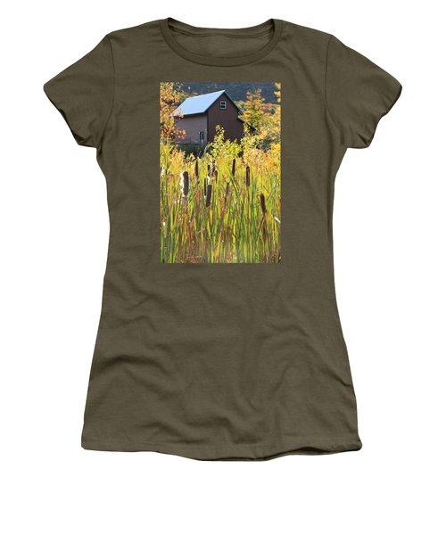 Cattails And Barn Women's T-Shirt (Athletic Fit)