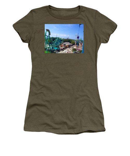 Cedar Point Amusement Park Women's T-Shirt (Athletic Fit)