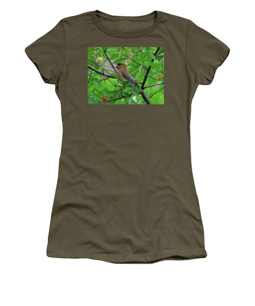 Cedar Waxwing Women's T-Shirt (Athletic Fit)