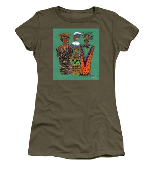 Women's T-Shirt (Junior Cut) featuring the mixed media Celebration II by Angela L Walker