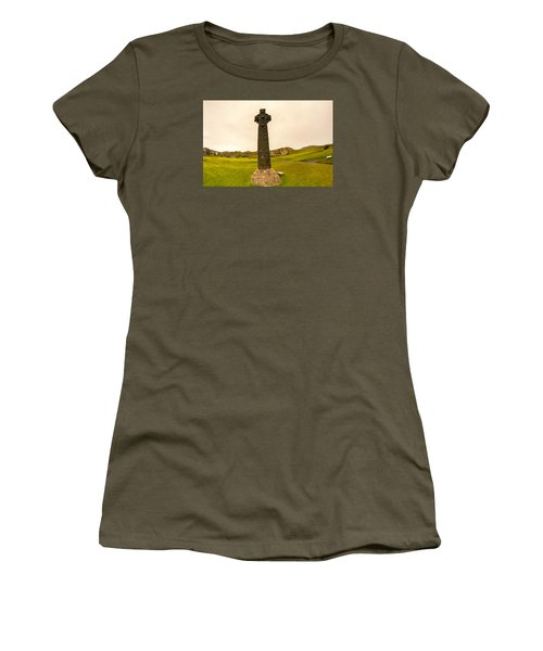 Celtic Cross, Isle Of Iona Women's T-Shirt (Athletic Fit)