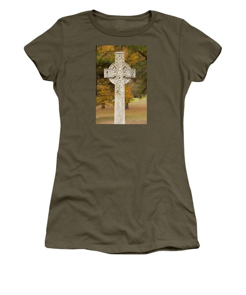 Celtic Cross Women's T-Shirt (Athletic Fit)