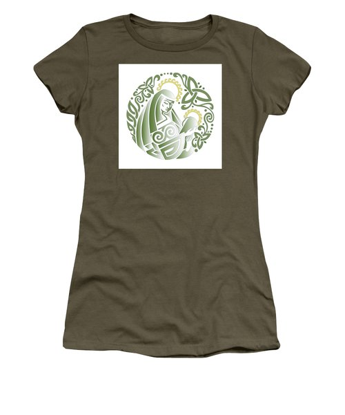 Celtic Green Madonna Women's T-Shirt (Athletic Fit)
