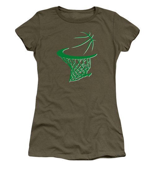 Celtics Basketball Hoop Women's T-Shirt (Athletic Fit)