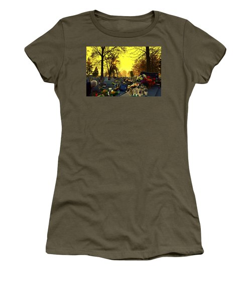 Cemetery In Feast Of The Dead Women's T-Shirt (Athletic Fit)