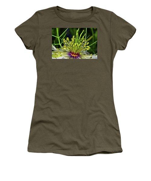 Centerpiece - Love In The Mist Macro Women's T-Shirt (Junior Cut) by George Bostian