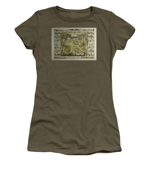 Women's T-Shirt (Junior Cut) featuring the photograph Central Park 1863 by Duncan Pearson