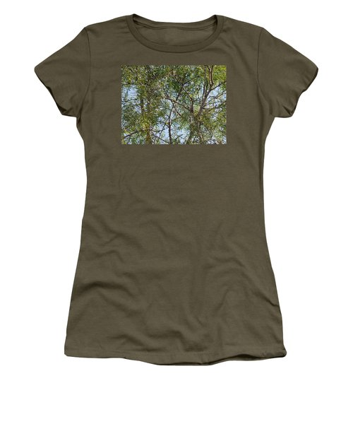 Women's T-Shirt (Junior Cut) featuring the photograph Central Texas Sky View Through Mesquite Trees by Ray Shrewsberry