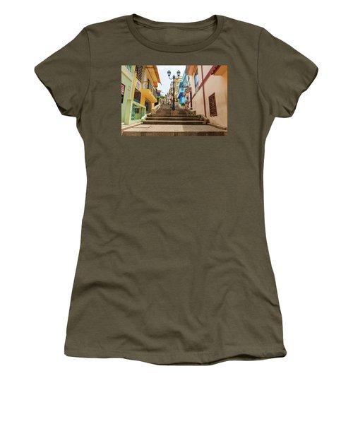 Cerro Santa Ana Guayaquil Ecuador Women's T-Shirt (Junior Cut) by Marek Poplawski