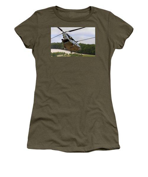 Ch47 Chinook On Manoeuvres Women's T-Shirt (Junior Cut) by Ken Brannen