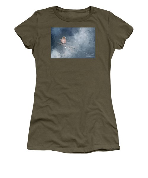 Chaffinch On A Cold Winter Day Women's T-Shirt