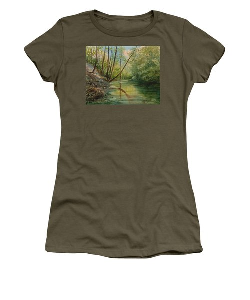 Chagrin River In Spring Women's T-Shirt (Athletic Fit)