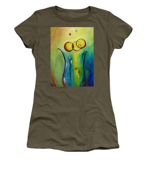 Champagne Women's T-Shirt (Junior Cut) by Donna Blackhall