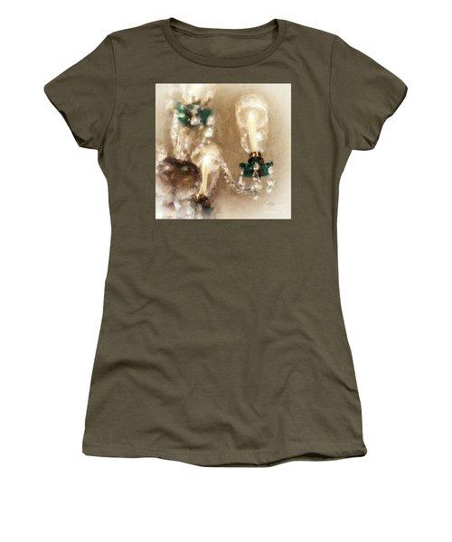 Chandelier At Winterthur Women's T-Shirt (Junior Cut) by Lois Bryan