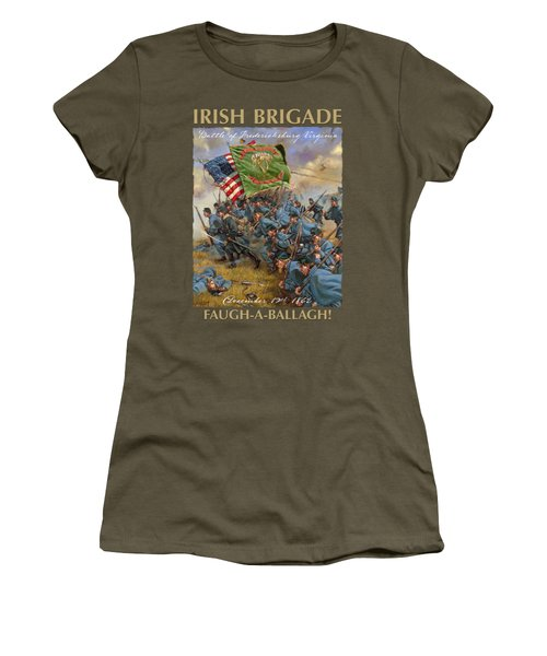 Charge Of The Irish Brigade - 28th Massachusetts Infantry - Battle Of Fredericksburg  Women's T-Shirt