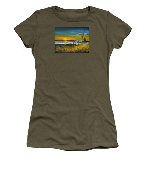 Women's T-Shirt (Junior Cut) featuring the painting Charleston Low Country by Lindsay Frost
