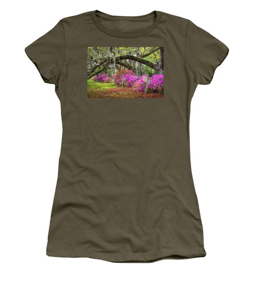 Charleston South Carolina Spring Flowers Lowcountry Landscape Photography Women's T-Shirt