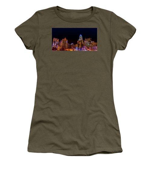 Charlotte Skyline At Night Women's T-Shirt