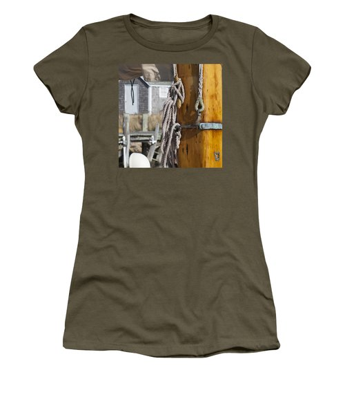 Women's T-Shirt (Junior Cut) featuring the photograph Chatham Old Salt by Charles Harden