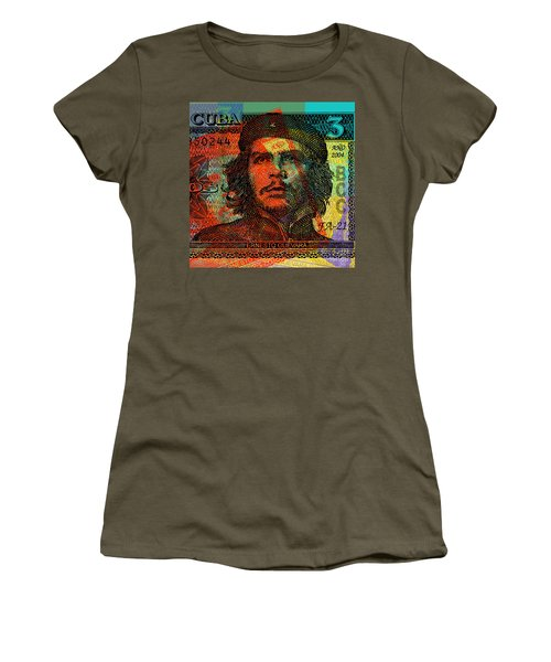 Che Guevara 3 Peso Cuban Bank Note - #1 Women's T-Shirt