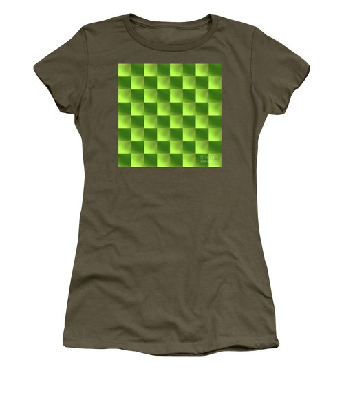 Checkerboard Women's T-Shirt (Athletic Fit)
