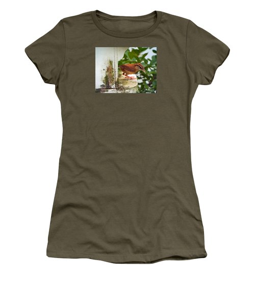 Checking Out New Digs Women's T-Shirt (Junior Cut) by Audrey Van Tassell