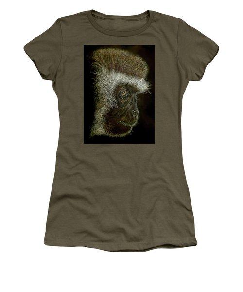 Cheeky Monkey Women's T-Shirt (Junior Cut) by Heidi Kriel