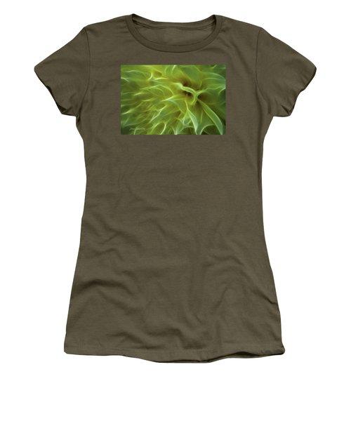 Cheery Chrysanthemum Women's T-Shirt (Junior Cut) by Joann Copeland-Paul