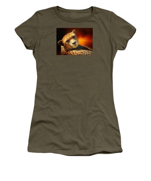 Cheetah Women's T-Shirt (Junior Cut) by Suzanne Handel