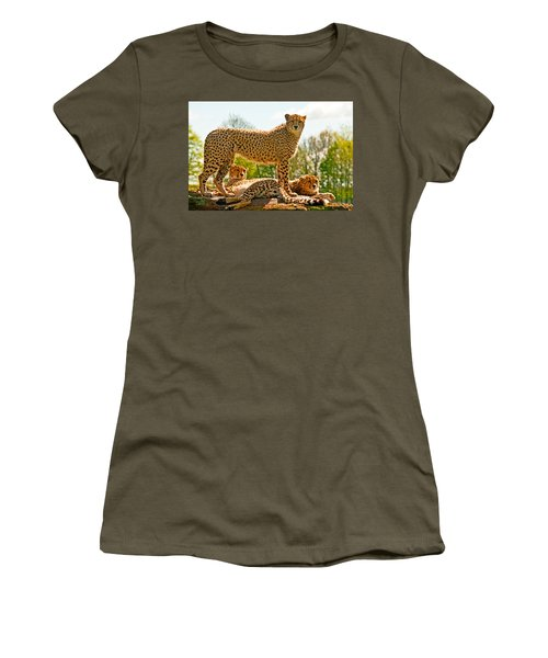 Cheetahs Three Women's T-Shirt (Athletic Fit)