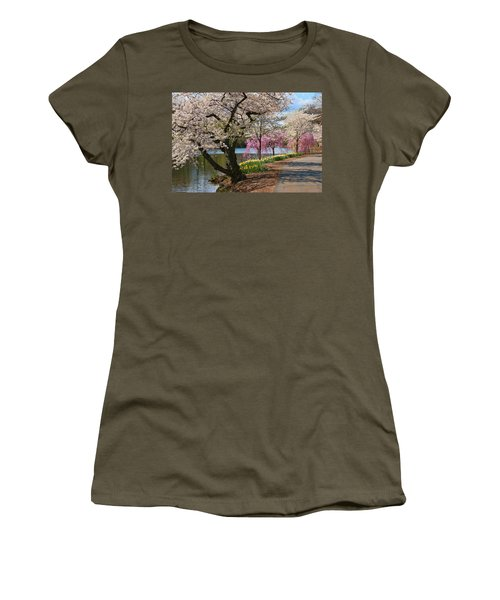 Cherry Blossom Trees Of Branch Brook Park 17 Women's T-Shirt
