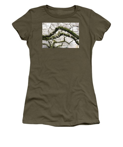Women's T-Shirt featuring the photograph Cherry Blossoms 104 by Peter Simmons