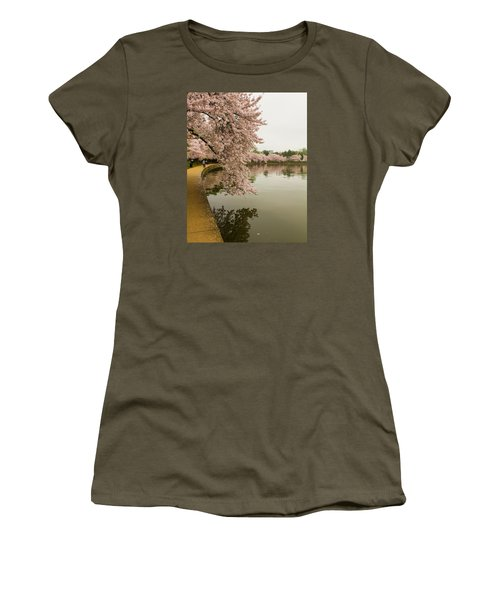 Cherry Blossoms Along The Tidal Basin 8x10 Women's T-Shirt (Athletic Fit)