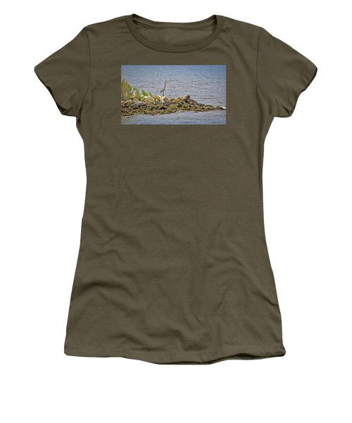 Chesapeake Bay Great Blue Heron Women's T-Shirt