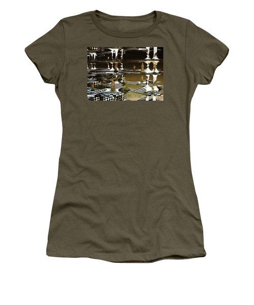 Chess Anyone Women's T-Shirt (Junior Cut) by Melissa Messick
