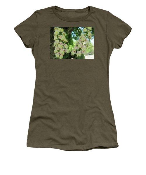 Chestnut Tree Flowers Women's T-Shirt (Junior Cut) by Paul Meinerth