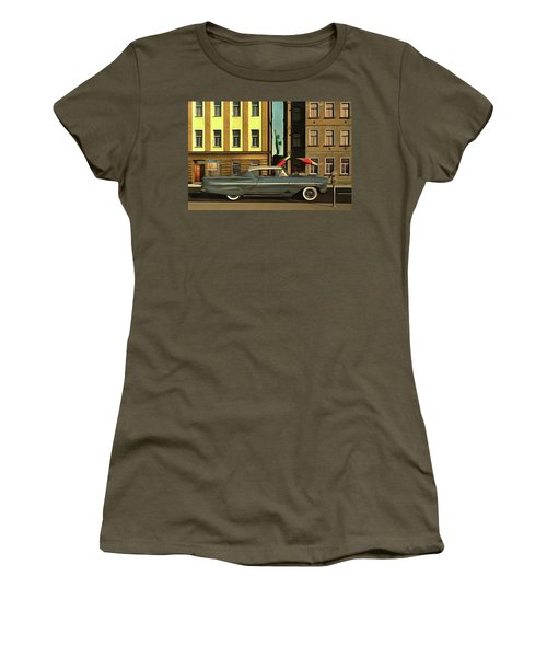 Chevrolette Impala At The Big Apple Women's T-Shirt (Athletic Fit)