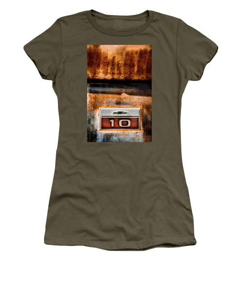 Chevy C10 Rusted Emblem Women's T-Shirt (Athletic Fit)