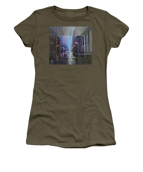 Chicago Rainy Street Expanded Women's T-Shirt