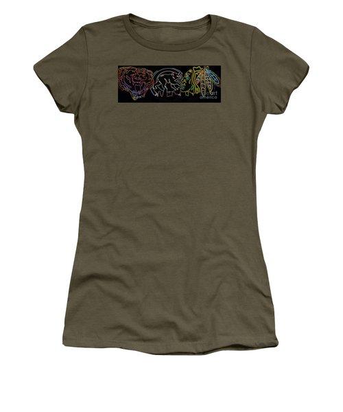 Chicago Sports Women's T-Shirt (Junior Cut) by Steven Parker