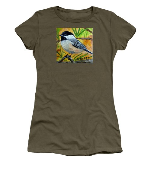 Chickadee In The Pines - Birds Women's T-Shirt (Athletic Fit)