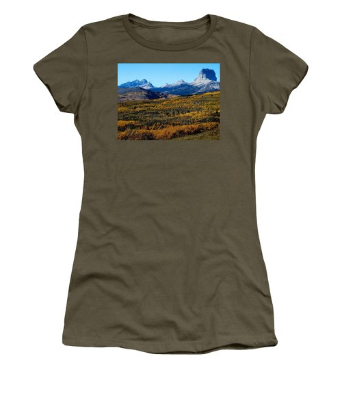 Chief Mountain In The Fall Women's T-Shirt (Athletic Fit)
