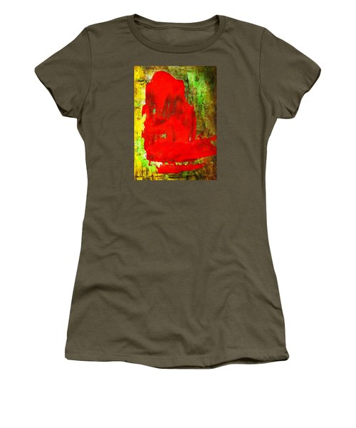 Colorful Red Abstract Painting - Child In Time Women's T-Shirt