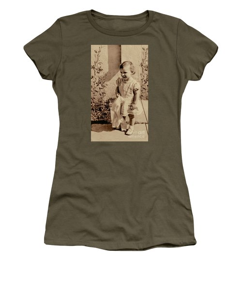 Women's T-Shirt (Junior Cut) featuring the photograph Child Of 1940s by Linda Phelps
